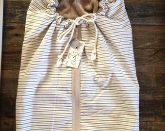 Cream Stripe Baby Bundle Bag