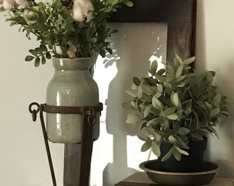 Cotton Stalk decoration, Boxwood decoration, Home & Living, table centerpiece, Fireplace Mantle decoration, Rustic decoration, Farmhouse