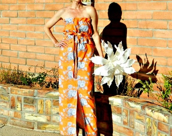 Bridesmaid Dress Long-Long Bridesmaid Dress-Boho Bridesmaid Dress-Skirt Maxi-Wear Again Bridesmaid-Festive Bright Floral-Solid-No Fittings