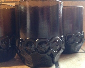 4 Piece Brown Madeira Drinking Glasses by Franciscan