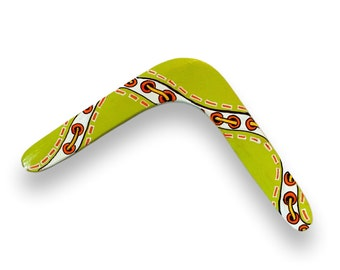 Boomerang - Right Handed - Handpainted Handcrafted by NC Artists - Beginner Model, 2-Blade, Original Artwork - Unique Gift, Great Exercise