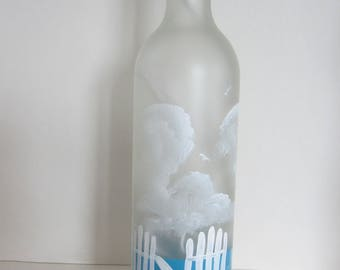 Beach Chair Frosted Lighted Bottle