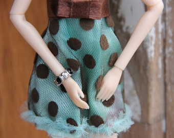Black Crystal Rhinestone Cuff Bangle Bracelet Fits Pullip Dolls