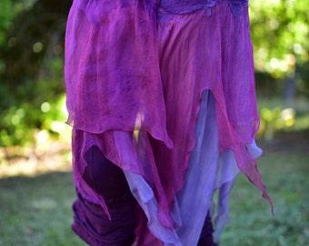 Nuno Felted Belt-Pixie Fairy Skirt-Hand Dyed Silk Belt-Fairy Costume-Natural Felt Clothing-Silk Belt-Woodland Costume-Festival WearOOAK