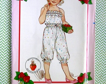 Little Girls' Camisole and Knickers - Butterick 4888 - Uncut Vintage Designer Sewing Pattern, Sizes 2, 3, and 4