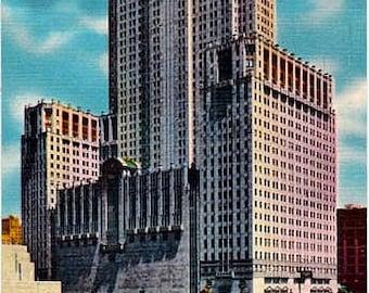 Vintage Chicago Postcard - The Civic Opera Building (Unused)