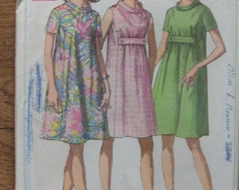Vintage 60s  simplicity sewing pattern 7558 Misses maternity  dress  size 16 b38