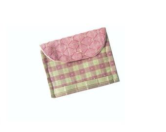 Women's Fabric Wallet , Credit Card Wallet , Business  Card , Gift  Card Wallet , Change Purse , Make Up Bag