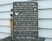 PERSONALIZED Disney Rules with Last Name We Do Disney House Rules Family Rules Rustic Wood Sign - ORIGINAL wording - 16x24 Carved Rules Sign