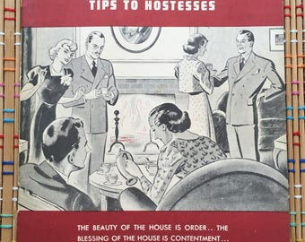Hospitality House Tips to Hostesses:  Coffee Recipe Book and CBS Radio Promotional Booklet, 1939
