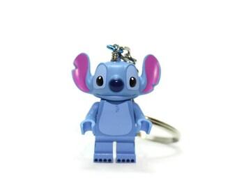 Stitch Keychain - made from new Stitch LEGO ® Minifigure