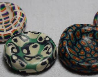 Polymer Clay Worry Stone Pendants