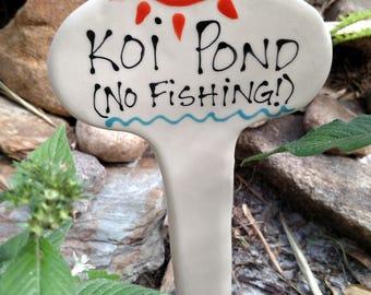 Koi Pond No Fishing
