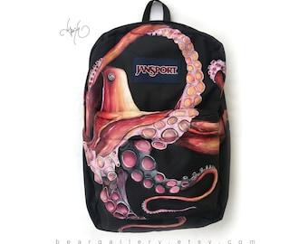 Custom Hand Painted JanSport - Octopus Backpack Painting