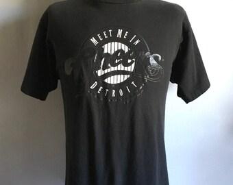 Vintage Men's 80's Cheers T Shirt, Black, Short Sleeve (L/XL)