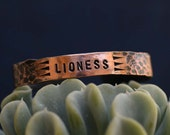 LIONESS Cuff - Planned Parenthood - Charity - Feminist - Human Rights - Copper Cuff - Women's Rights - Hear Me Roar - The Future is Female