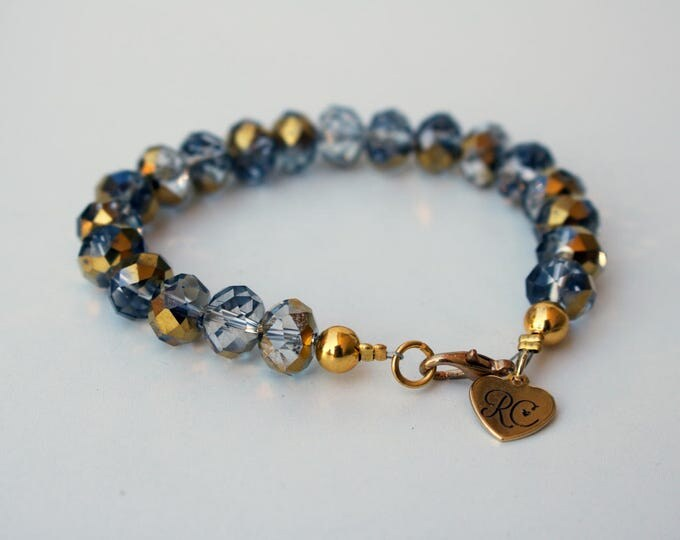 RC Signature Bracelet in Gold and Smokey Grey.