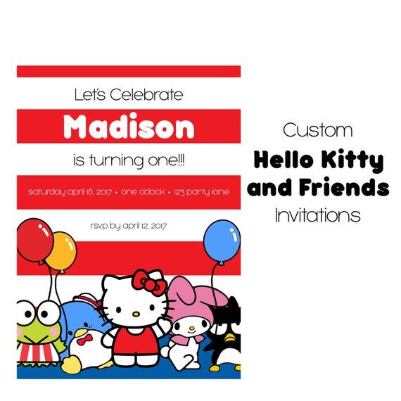Hello Kitty Birthday Invitation, Kitty And Friends Party