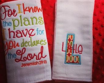 Scripture burp cloths