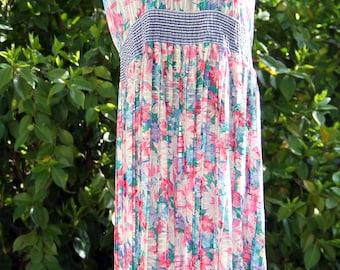 Vintage 80's Floral Diane Freis Dress