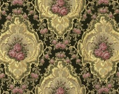 antique french wallpaper pink roses medallion illustration digital download