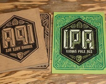 IPA Indian Pale Ale - Block Print