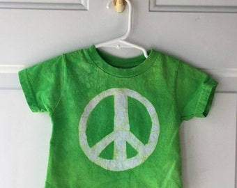 Kids Peace Sign Shirt, Green Peace Sign Shirt, Toddler Peace Shirt, Kids Peace Shirt, Boys Peace Shirt, Girls Peace Shirt (18 months)