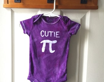 Pi Day Baby Bodysuit, Purple Pi Day Baby Shirt, Purple Cutie Pi Bodysuit, Nerdy Baby Bodysuit, Math Baby Gift, Baby Girl Pi Day (9 months)