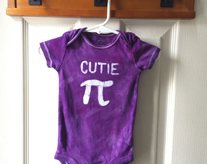 Pi Day Baby Bodysuit, Purple Pi Day Baby Shirt, Purple Cutie Pi Bodysuit, Nerdy Baby Bodysuit, Math Baby Gift, Baby Girl Pi Day (9 months)