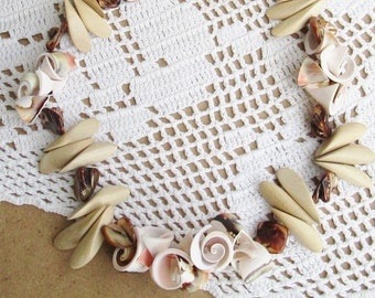 Rumba Shell and Wood Diva Necklace - Dancing in the Sand - Unique and Fun Piece