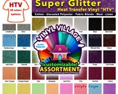"2 sample 3""x6""  Super Glitter Heat Transfer thermal press vinyl, T- Shirt film for craft or sign cutter, die punch cut,  +- 1/2, pack lot"