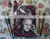 Reserved Listing for Hannibalisme - Hannibal Traditional Art - Original Watercolor Painting