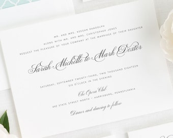1940's Wedding Invitations - Sample