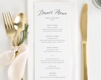 Garden Romance Dinner Menus - Deposit