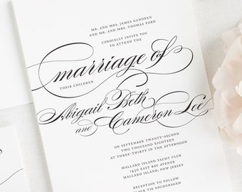 Marriage Wedding Invitations - Sample