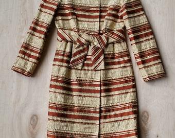 1960s Richard Tam Metallic Brocade Party Dress // sz XS/S