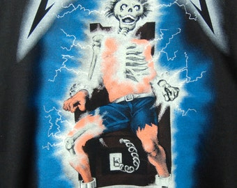 Authentic 1994 Metallica Ride the Lightning Rock Tee - PERFECT Condition, Size XL
