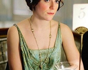 TRUE Vintage Downton 1920s Headband, Great Gatsby Rhinestone Bridal Hair Piece,Art Deco Headpiece,Wedding Flapper Halo 1930s Facinator Chain