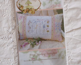 Spring Sampler Pillow - pattern by Crab-Apple Hill