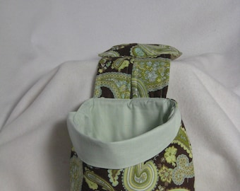 Stay Put Pouch Wheelchair Caddy Sage Paisley