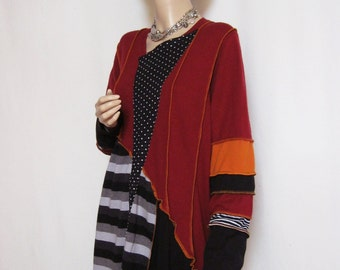 1X to 2X red and Stripes Tunic