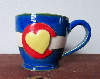 No. 4 Colorado in my Heart - Cozy Coffee Mug - Show your CO state pride, ready to ship
