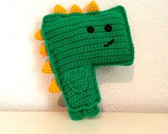 Not So Terrifying T-Rex, Crochet Dinosaur, Green Tyrannosaurus, Crochet Rag Doll Dinosaur, Boys Stuffed Animal, Dinosaur Plushie