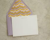 SALE NOTECARDS - lavender / grey / yellow ikat
