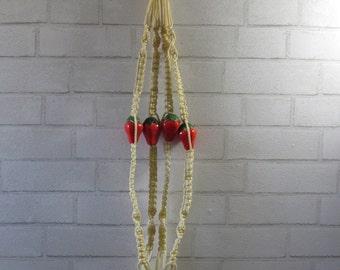 Vintage Strawberry Ceiling Plant Hanger/Holder