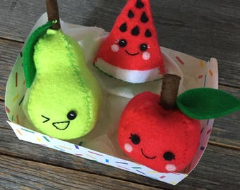 Felt Fruit / Watermelon / Pear / Apple