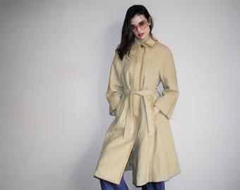 Vintage 70s Designer Louis Feraud Paris Wool Coat - 1970s Designer Coats - 70s Clothing - WV0094