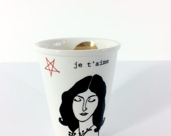 Mug printed with Belle Dame Ida
