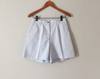 40% OFF SALE... periwinkle blue mini shorts | L.L.Bean high waisted tap shorts