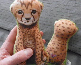NEW Desktop Baby Cheetah Cub Small Stuffed Toy